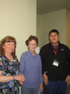 staff with memory care resident